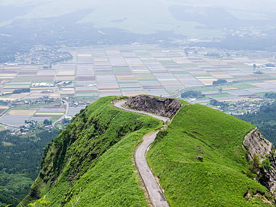 aso, japan, kumamoto, somma, laputa road, aerial View, nature