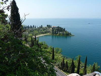Llac, l'aigua, natura, verd, Garda, Itàlia