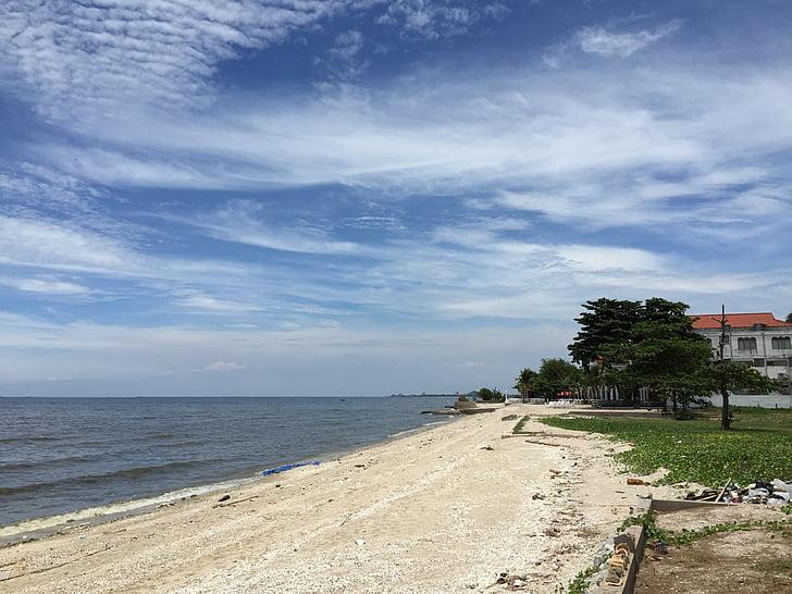 Mar, algun Déu de mar, restaurant de cuina de marisc, cel, una bella vista