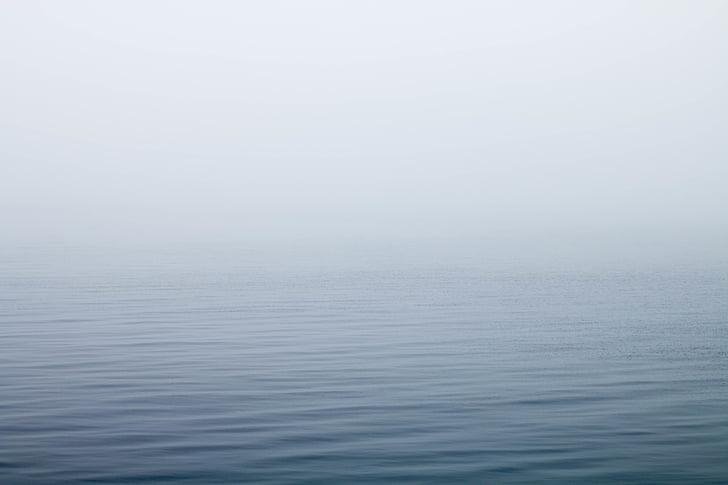boira, Llac, boira, oceà, Mar, tranquil·la, l'aigua