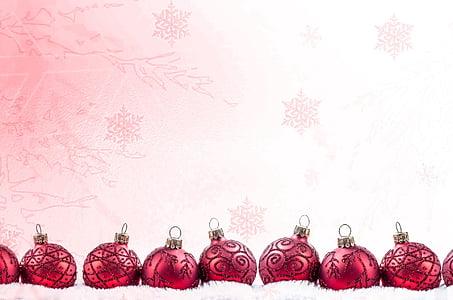 decorazione, rosso, tempo di Natale, Bagattella di Natale, cartolina di Natale, bianco, Sparkle