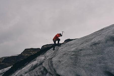 mountain climbing, mountain climber, mountain, climb, climbing, man, hiking