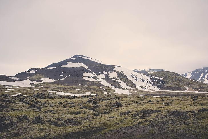 aukštumos, kraštovaizdžio, Gamta, vaizdingas, dangus, sniego, ne žmonės