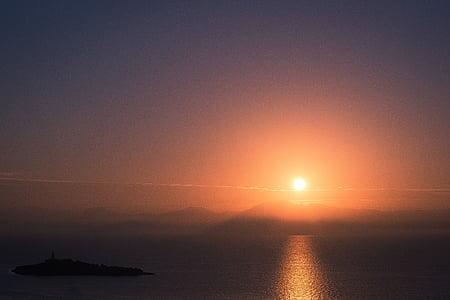 mare, tramonto, stato d'animo, tramonto sul mare, sole, acqua, sole di regolazione
