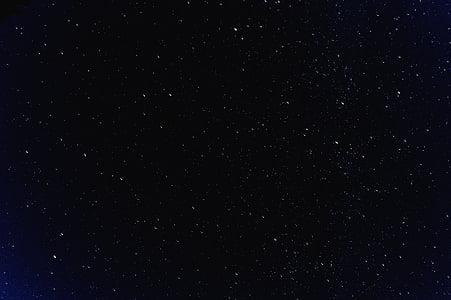 estrellat, nit, cel, estrella, l'astronomia, fons, resum