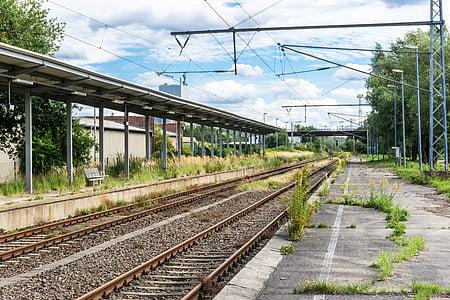 railway station, seemed, platform, track, railway, railway rails, rail traffic