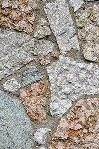 石头, 小志, 岩石, 墙上, 颜色, 纹理, 大理石