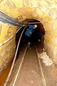 socabon, Mine, Miner, guld, Potosi, ingång, Sleeper