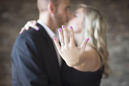 engagement, couple, love, romance, marry, woman, man