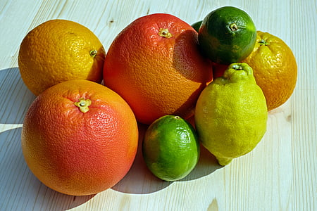 fruits, alimentaire, fruits tropicaux, agrumes, fruits, oranges, citrons
