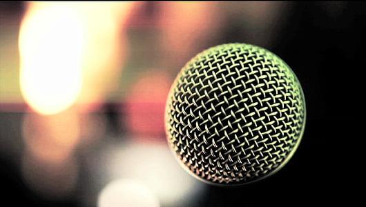 mikrofon, blur, háttér, hang, koncert, zene, esemény