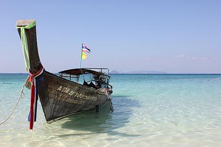 Tailàndia, platja, l'aigua, Mar, bota, blanc
