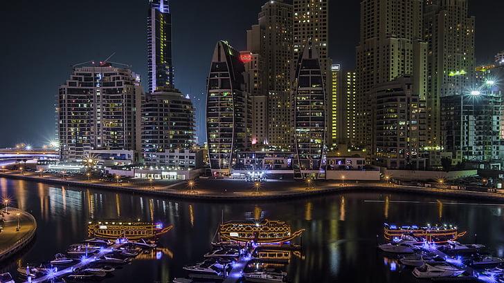 Dubai, Marina, arabiske, United, Emirates, Forenede Arabiske Emirater, skyline
