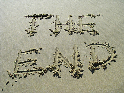 konec, pesek, konec, Beach, besedilo