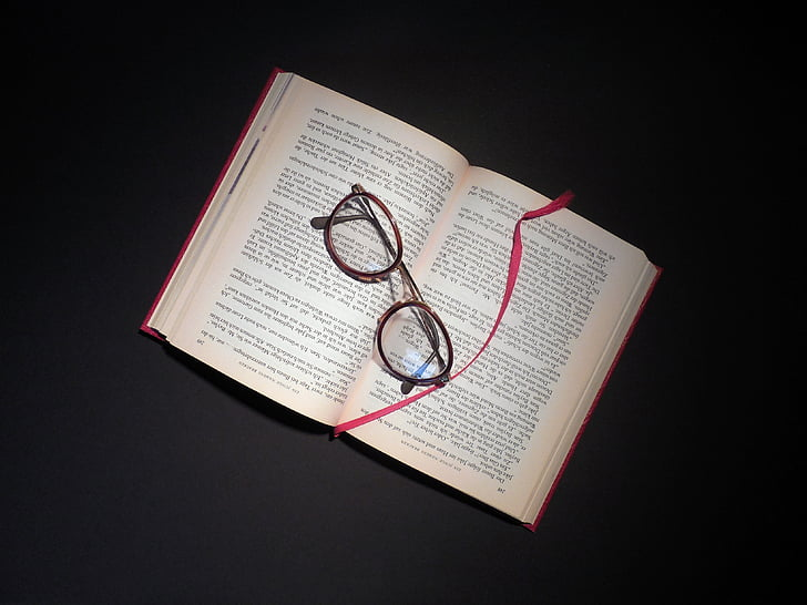 book, read, glasses, literature, pages, book pages, learn