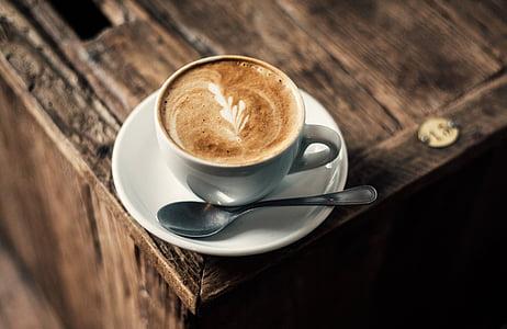 cafè, Copa, esmorzar, beguda, gust, plats, pausa