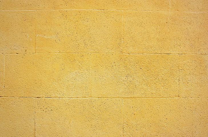 Стіна, жовтий, AIX, Провансі, Старий, Архітектура, фони