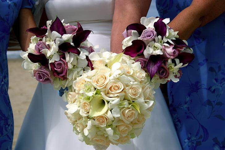 arrangements, wedding, ladies, flowers