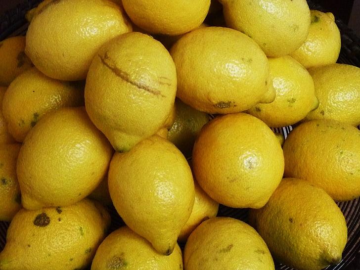llimones, cítrics, fruita, vitamines, Sa, groc