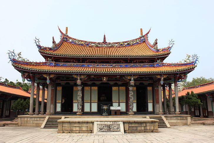 Świątynia, Tajpej, Confucious, religia, punkt orientacyjny, kultury, Tajwan
