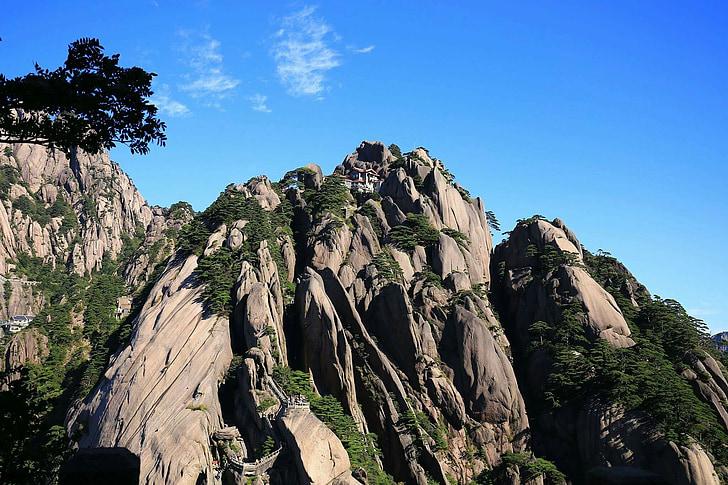 Kina, Huangshan, bergen, naturen, Mountain, Rock - objekt, landskap