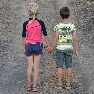 children, people, boy, girl, friendship, connectedness, outdoors