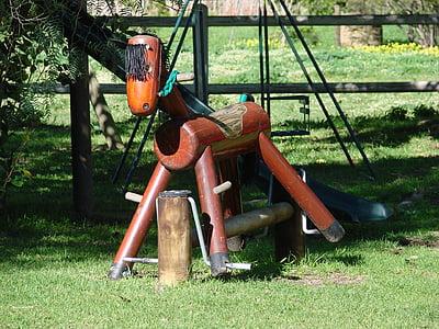 rocking horse, pony, horse, toy, wooden, fun, child
