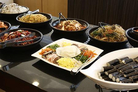 bufet, aliments, deliciós, aliments i begudes, placa, marisc, no hi ha persones