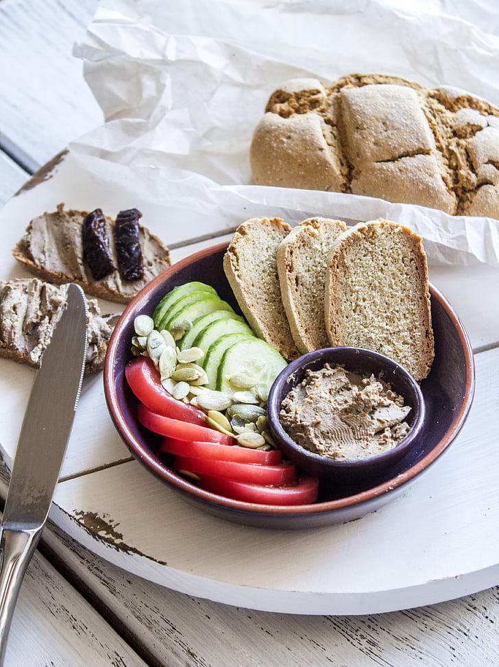 ขนมปัง, อาหาร, กบาล, บ้าน, อาหารเช้า, เบเกอรี่, อร่อย