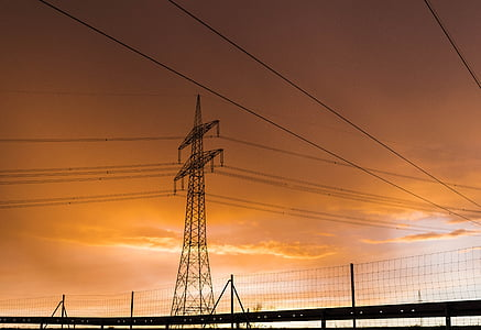 current, electricity, strommast, power line, pylon, high voltage, energy