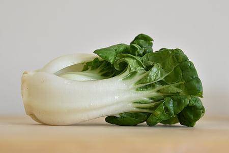 bok choy, vegetabilsk, grøn, mad, sund, ernæring, frisk
