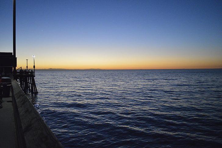 mar, cielo, Costa, Pacífico, Océano, agua, Horizon