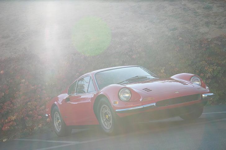 Dino, Ferarri, cotxe, l'automòbil, cotxe esportiu, cotxe clàssic, vermell