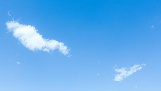 sininen taivas, valkoinen pilvi, materiaali, sininen, Luonto, Sää, päivä