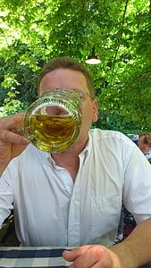 man, dorst, drankje, persoon, bier, Krug, Bierpul