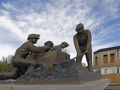 staty, Trinidad, New mexico, USA, kolgruva, gruvdrift, skulptur