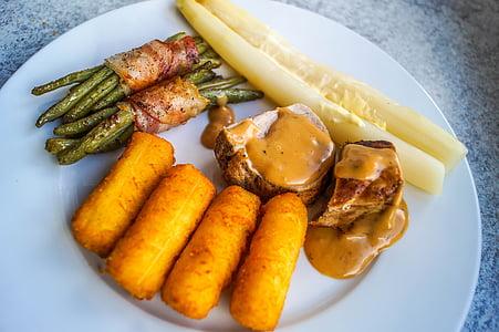 Filet de porc, menjar, carn de porc, àpat, deliciós, Nutrició, cuinar