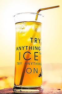erfrischungsgetränk, beguda, gel, Copa de gel, refresc, l'estiu, vidre