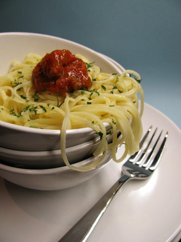 pastes, plats, Mandonguilles, dinar, cuina, italià, sopar