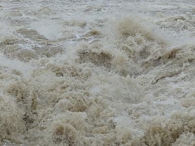 marée haute, vague, injecter, Strudel, dangereuses, Eddy, pulvérisation