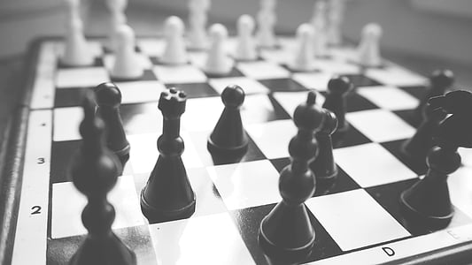 black-and-white, board game, challenge, chess, chess pieces, chess rook, decision