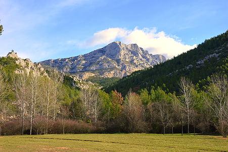 mägi, Prantsusmaa, Aix Provence'is, Püha võidu, Provansaali värv