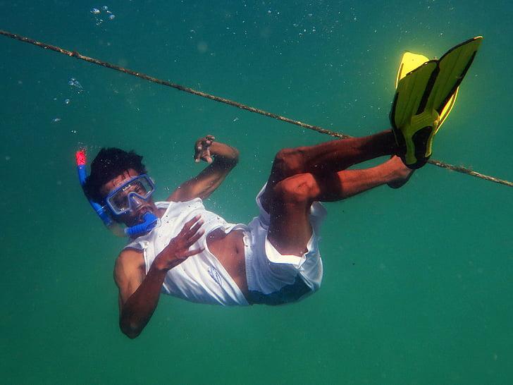 Alif, Immersió, KJA, Submarinisme, nedador, sota l'aigua, l'aigua