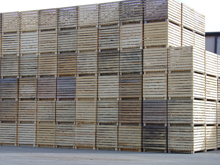 fusta, caixes, caixes, molts, marró, l'agricultura, negoci