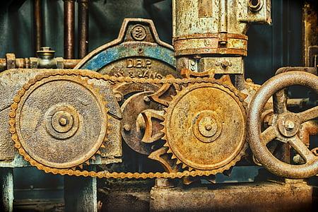 Lanţ, mecanica, link-ul lanţ, metal, Angrenaje, lanţ de fier, închide