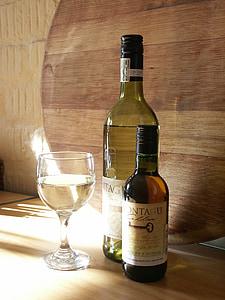 vi, vidre, ampolla, l'alcohol, beguda, blanc, celler