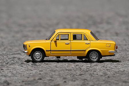 Fiat, Automatycznie, pojazd, mały samochód, zabytkowe samochody, klasyczny samochód, skali