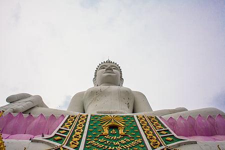 Buddha, Thaiföld, Isaan, ubolratana, szobor, buddhizmus, Ázsia