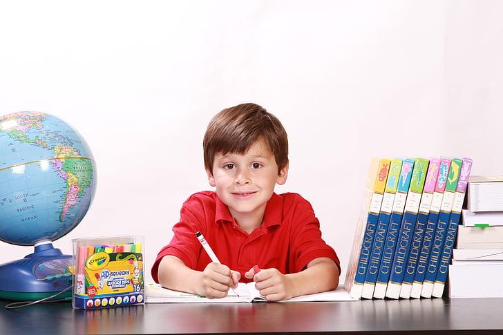Момче, Портрет, усмивка момче, училище, учене, усмихнати, деца