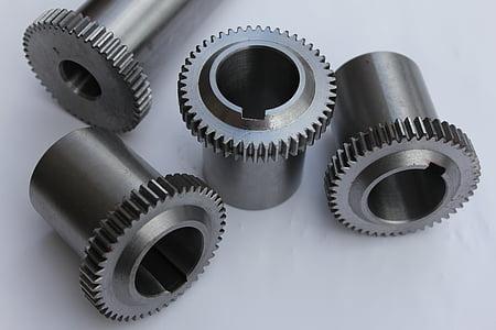 CNC, fresatura, tornitura, lavorazione, Gear, ingranaggi, parte della macchina